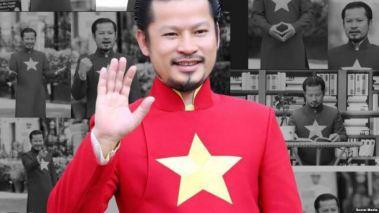 Hành động của ông Hùng khơi dậy những tranh cãi lâu nay mỗi khi lá cờ của chế độ cộng sản đang cầm quyền tại Việt Nam xuất hiện trong cộng đồng người Việt tị nạn ở hải ngoại. Ảnh: Mạng XH