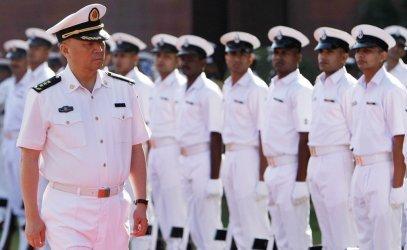 Ngô Thắng Lợi (Wu Shengli), tư lệnh Hải Quân Trung Quốc trong chuyến thăm Ấn Ðộ hồi năm 2008. (Hình: Getty Images)