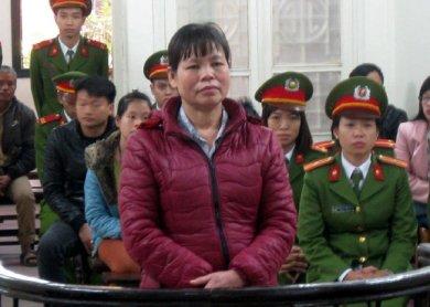Bà Cấn Thị Thêu tại phiên tòa phúc thẩm. Nguồn: VNN.