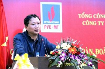 Ông Trịnh Xuân Thanh khi ở PVC - MT Photo courtesy of doisongphapluat.com