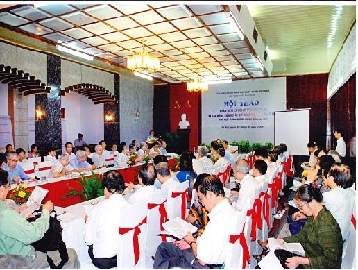 Hội thảo khoa học: Phản biện xã hội về tiêu thoát lũ và tác động của dự án quy hoạch cơ bản phát triển khu vực sông Hồng đoạn qua Hà Nội, ngày 8/10/2009