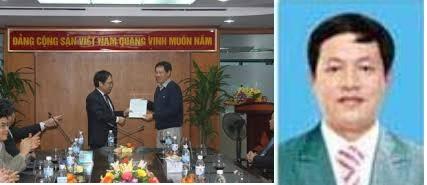 Ảnh trái: Ông Nguyễn Quốc Thập, Phó Tổng Giám đốc PVN trao Quyết định bổ nhiệm chức Phó Tổng Giám đốc PV Power cho ông Lê Chung Dũng. Ảnh phải: Ông Lê Chung Dũng. Nguồn: internet