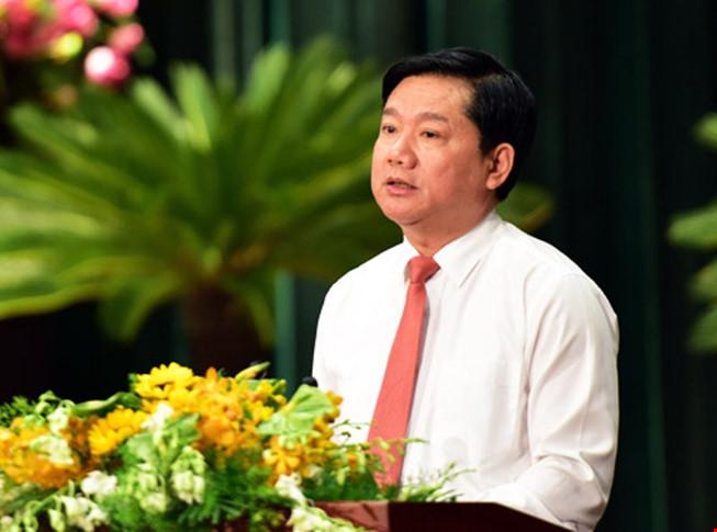 Bí thư Thành ủy Đinh La Thăng. Ảnh: báo PLTP