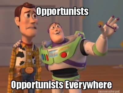 Ảnh minh họa: những kẻ cơ hội ở khắp nơi. Nguồn: internet