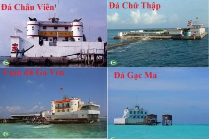 Một số đảo đá đã bị Trung Quốc dùng vũ lực cưỡng chiếm. Nguồn: internet
