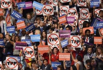 Người dân Mỹ biểu tình phản đối TPP. Nguồn: internet