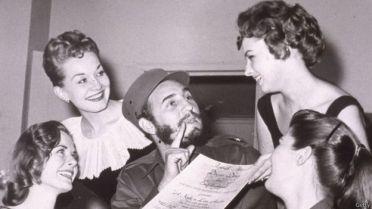 Những bóng hồng quanh Fidel Castro. Ảnh: Getty Images.
