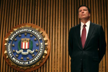Ông James Comey, giám đốc FBI. (Hình: Mark Wilson/Getty Images)