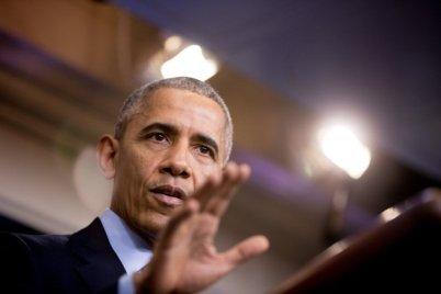 Tổng Thống Barack Obama tại cuộc họp báo ở Tòa Bạch Ốc. (Hình: AP Photo/Andrew Harnik)