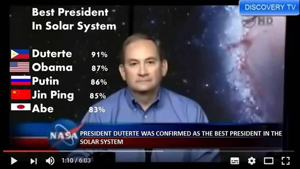 """Duterte – """"tổng thống số một Thái dương hệ""""!"""