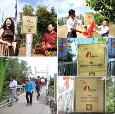 Ảnh: một số cây cầu mang tên Dr. Thanh. Nguồn: FB Phạm Lê Vương Các/ internet