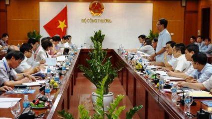 Một cuộc họp ở Bộ Công thương. Ảnh: Bộ Công Thương