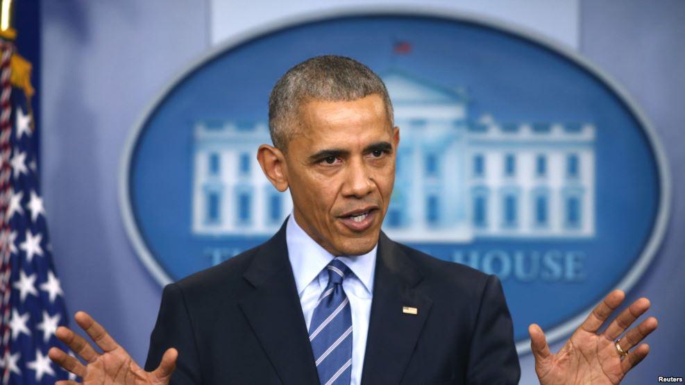 Tổng thống Barack Obama lên tiếng vụ tin tặc tìm cách can thiệp vào cuộc bầu cử của Hoa Kỳ, ngày 16/12, 2016. Ảnh: Reuters.