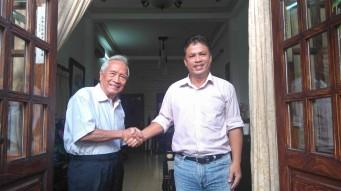 Bs Nguyễn Đan Quế (trái) và Ks Đỗ Nam Hải (phải). Ảnh: tác giả gửi tới.