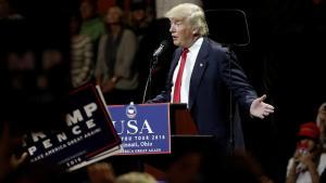 Tổng thống Mỹ tân cử Donald Trump, phát biểu tại Cincinnati, Ohio, ngày 01/12/2016. Ảnh: REUTERS/Mike Segar
