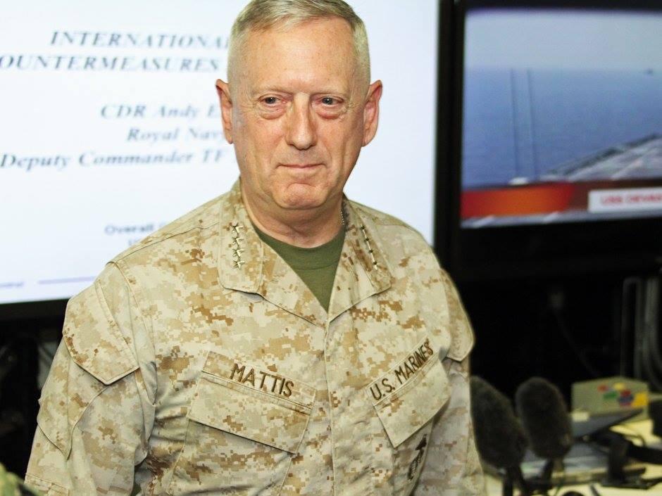 """Tướng """"Mad Dog"""" James Mattis, người được chỉ định ghế bộ trưởng quốc phòng. Ảnh: internet"""