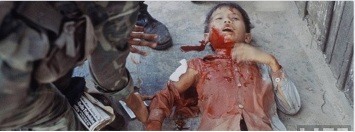 Trẻ em VN chết trong chiến tranh. Nguồn: internet/ FB Trần Trung Đạo