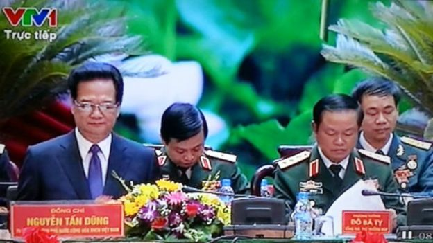 Ảnh tư liệu: Đại hội thi đua quyết thắng toàn quân của Quân ủy Trung ương 1/07/2015 vắng Đại tướng Thanh. Ảnh: VTV