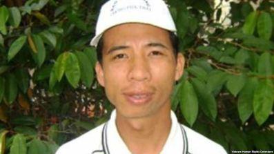 Anh Đặng Xuân Diệu trước khi bị bắt. Nguồn: VN Human Rights Defenders