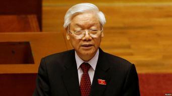 Tổng Bí thư Nguyễn Phú Trọng phát biểu tại lễ khai mạc kỳ họp thứ nhất Quốc hội khóa XIV, ngày 20/7/2016. Ảnh: Reuters.