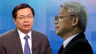 Nguyên Bộ trưởng Vũ Huy Hoàng và TBT Nguyễn Phú Trọng. Ảnh: internet