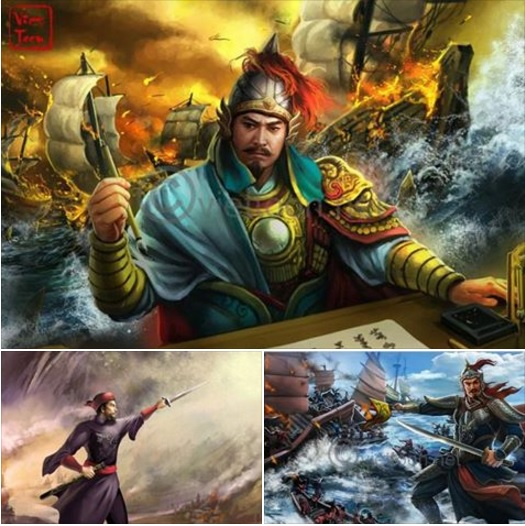 Ảnh vẽ danh tướng Trần Hưng Đạo trong các trang sách. Nguồn: internet
