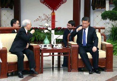 TBT Nguyễn Phú gặp CTN Tập Cận Bình trong chuyến thăm Trung Quốc vừa qua. Ảnh: internet