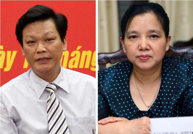Thứ trưởng Nguyễn Duy Thăng (trái) và Trần Thị Hà được xác định có trách nhiệm trong vụ Trịnh Xuân Thanh. Ảnh: DT