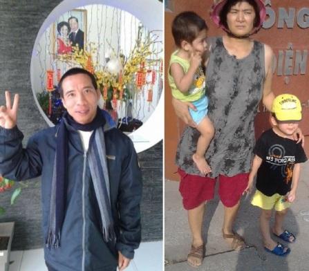 TNLT Đặng Xuân Diệu vừa được thả thì 1 tuần sau, cô Trần Thị Nga, mẹ của 2 con nhỏ đã bị bắt. Ảnh: internet