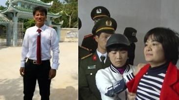 Cựu TNLT Nguyễn Văn Oai và nhà hoạt động Trần Thị Nga là hai nạn nhân mới nhất trong vụ bắt bớ gần đây. Ảnh cắt từ mạng internet.