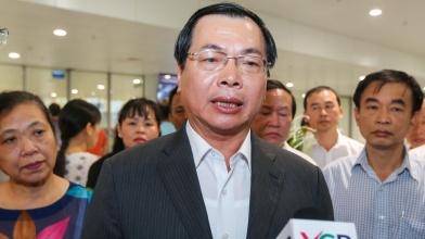 Ông Vũ Huy Hoàng trả lời báo chí khi còn là Bộ trưởng Bộ Công thương - Ảnh: Việt Dũng/ báo TT.