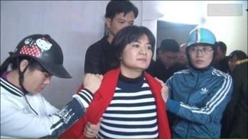 Chị Trần Thị Nga khi bị bắt. Nguồn: internet