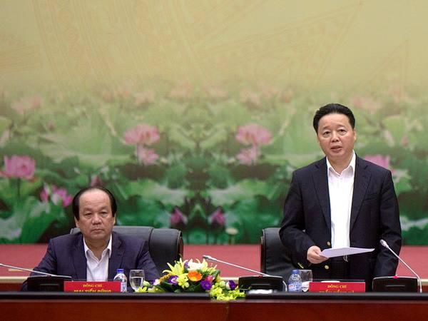 Ảnh: Tổ Công tác Chính phủ làm việc với Bộ TN-MT nhắc Bộ thực hiện lời hứa với Thủ tướng về trách nhiệm trong vụ Formosa, tháng 12/2016 (Dân trí).