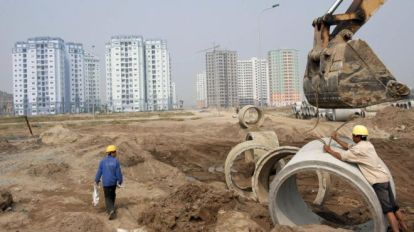 Nhiều 'đại gia' Việt Nam làm giàu từ kinh doanh bất động sản. HOANG DINH NAM/AFP/Getty