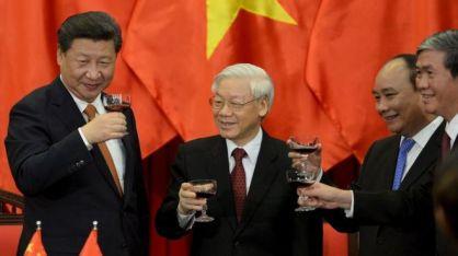 Chủ tịch Tập Cận Bình thăm Việt Nam tháng 11/2015. Ảnh: TTXVN