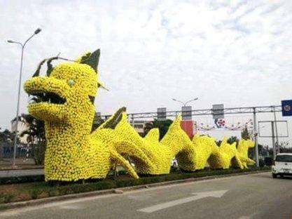 Con rồng trang trí tại đường Lê Hồng Phong, Hải Phòng. Ảnh: VNN