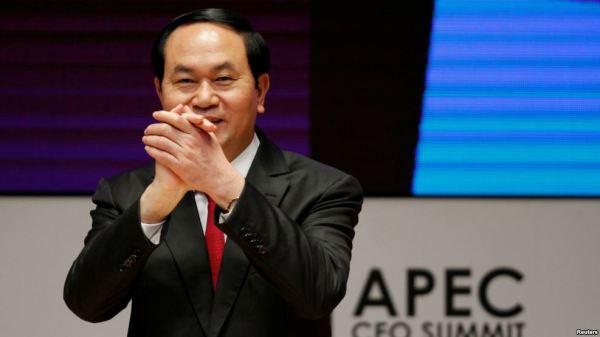 Chủ tịch Việt Nam Trần Đại Quang. Ảnh: Reuters.
