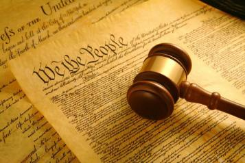 Ảnh chụp Hiến pháp Mỹ. Nguồn: internet