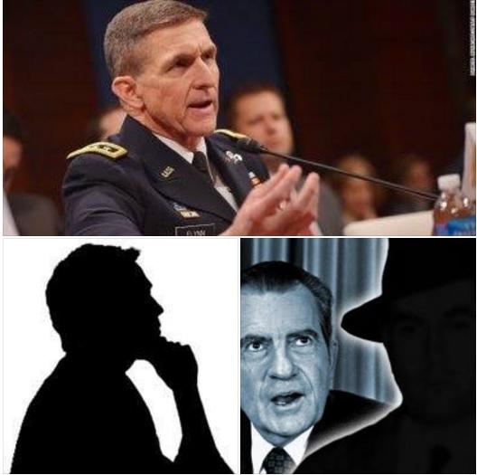 Michael Flynn, Richard Nixon và những người ẩn danh đã tham gia hạ bệ. Ảnh: internet