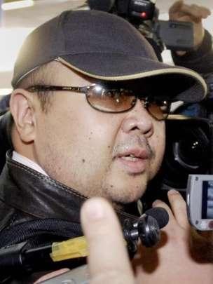 Người được cho là ông Kim Jong-nam tại sân bay ở Bắc Kinh ngày 11 tháng Hai năm 2007. Ảnh: AFP/AFP/Getty Images