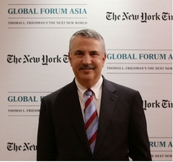 Tác giả Thomas Friedman, chủ nhân của 3 giải thưởng Pulitzer. Ảnh: Getty Images