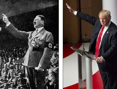 Những sắc lệnh mới chống nhập cư của Trump, mọi người ví Trump giống như Hitler. Ảnh: internet