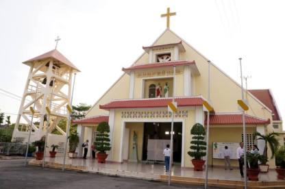 Nhà thờ GX Thủ Thiêm. Ảnh: FB Lê Văn Sơn.