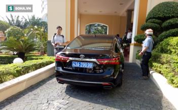 Chiếc xe biển số xanh ông Nguyễn Xuân Anh, Bí thư Thành ủy Đà Nẵng đang sử dụng.