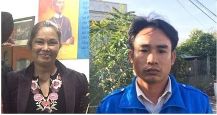 Bùi Thị Minh Hằng và Đoàn Huy Chương, hai tù nhân lương tâm mới vừa được thả gần đây nhất. Ảnh cắt từ internet.