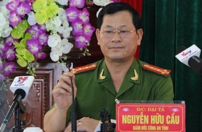 Giám đốc công an tỉnh Nghệ An, đại tá Nguyễn Hữu Cầu.