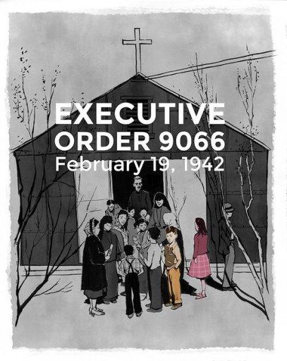 Thu Quach, thành viên của PIVOT, hàng ngày ngắm nhìn bức ảnh của Ansel Adams, đã được chụp vào năm 1943 tại trại giam ở Manzanar. Hai đứa trẻ được đánh dấu trong hình là bố chồng của cô và chị gái. Ảnh: Thi Bui, thành viên của PIVOT.