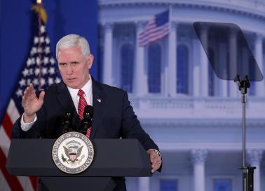Phó tổng thống Mike Pence. Ảnh: Newsweek.