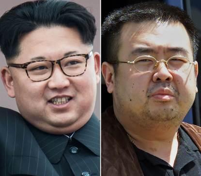 Kim Jong-nam (phải) được cho là đã bị giết bởi người em trai của mình (trái), là lãnh tụ Bắc Hàn. Nguồn ảnh: internet