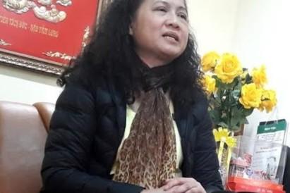 Bà Tạ Thị Bích Ngọc, hiệu trưởng trường Nam Trung Yên. Ảnh: internet